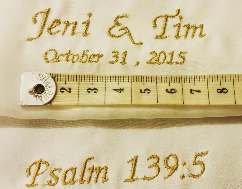 soho embroidery Metallic Thread Wedding Inscription