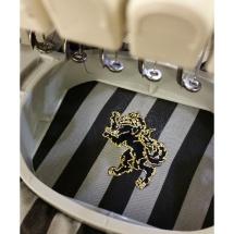 Soho Embroidery WOOLFE crest logo