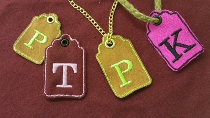 soho embroidery Embroidered gift tags