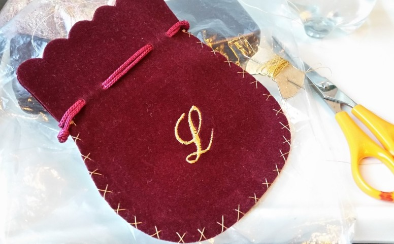 soho embroidery Monogrammed Giftbags