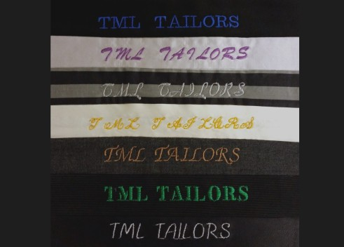 soho embroidery TML TAILORS embroidery sample
