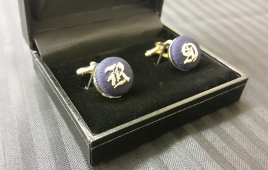 soho embroidery DM.BUTTONS Embroidered cufflinks
