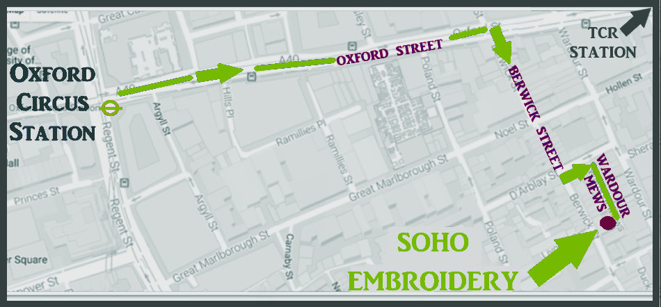 Soho Embroidry - map